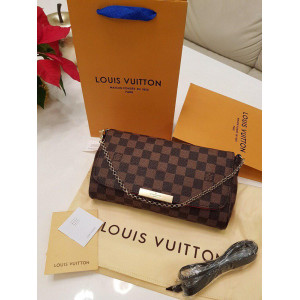 Коричневый клатч LOUIS VUITTON DAMIER FAVORITE PM