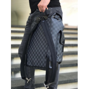 Темно-серый рюкзак LOUIS VUITTON GRAPHITE CHRISTOPHER PM