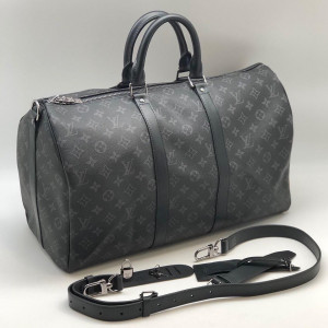 Темно-серая сумка LOUIS VUITTON MONOGRAM KEEPALL