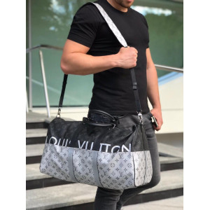 Серая сумка LOUIS VUITTON KEEPALL 55