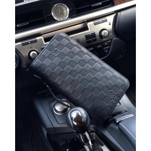 Синий клатч-кошелек LOUIS VUITTON DAMIER INFINI ZIPPY XL